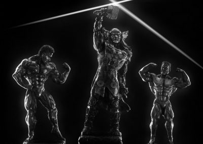 Still life photography - Bodybuilder Statues