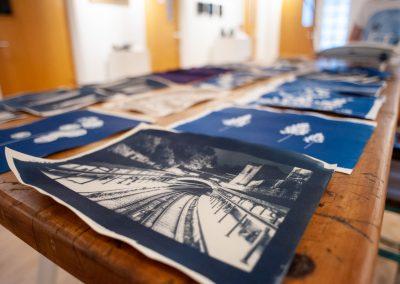 Cyanotype Workshop - Tea toned print